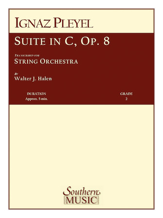 Product Cover for Suite in C, Op 8