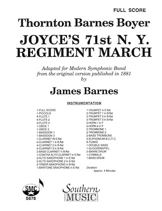 Product Cover for Joyce's 71st N.Y. Regiment March