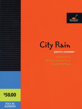 Product Cover for City Rain (Score Only)