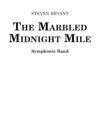 Product Cover for The Marbled Midnight Mile