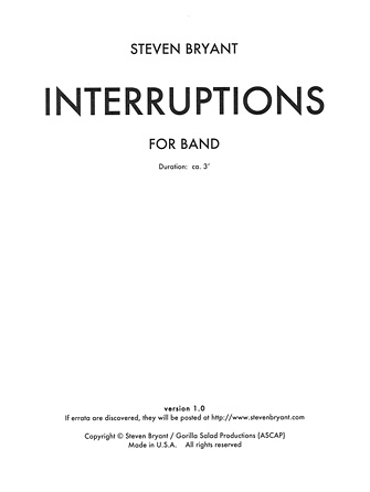 Product Cover for Interruptions