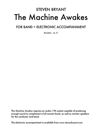 Product Cover for The Machine Awakes (for Band Plus Electronics)