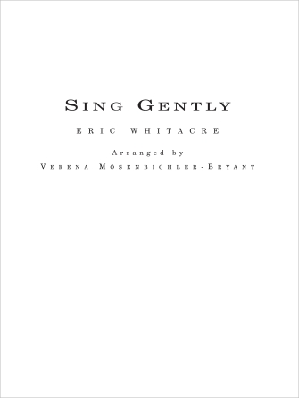 Product Cover for Sing Gently for Flexible Wind Band