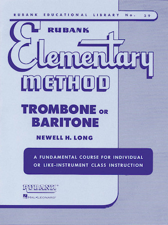 Product Cover for Rubank Elementary Method - Trombone or Baritone