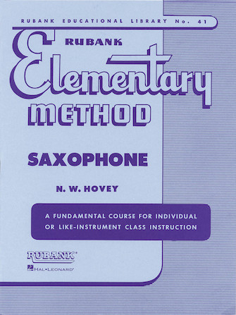 Product Cover for Rubank Elementary Method – Saxophone