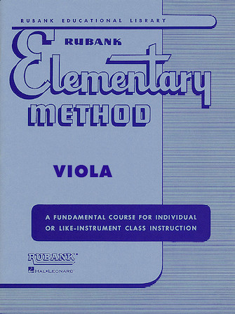 Product Cover for Rubank Elementary Method - Viola