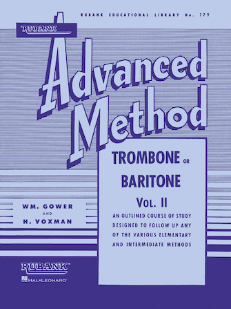 Product Cover for Rubank Advanced Method – Trombone or Baritone, Vol. 2
