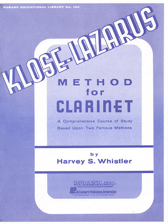 Product Cover for Kloze-Lazarus Method for Clarinet