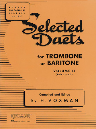 Product Cover for Selected Duets for Trombone or Baritone