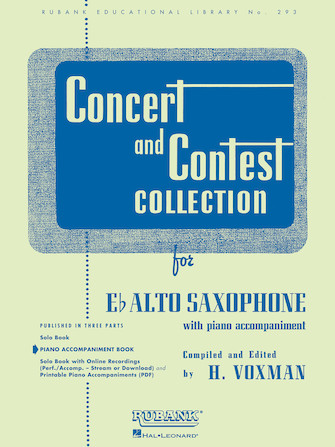 Product Cover for Concert and Contest Collection for Eb Alto Saxophone