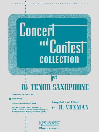 Product Cover for Concert and Contest Collection for Bb Tenor Saxophone