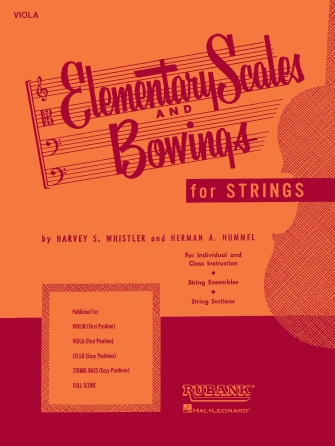 Product Cover for Elementary Scales and Bowings – String Bass