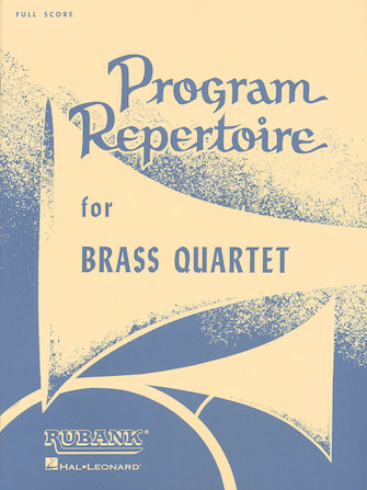 Product Cover for Program Repertoire for Brass Quartet