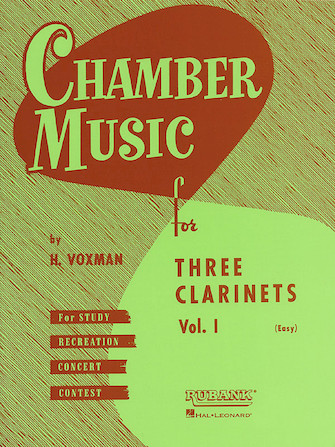 Product Cover for Chamber Music for Three Clarinets, Vol. 1 (Easy)