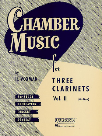 Product Cover for Chamber Music for Three Clarinets, Vol. 2 (Medium)