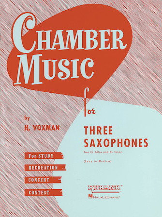 Product Cover for Chamber Music for Three Saxophones