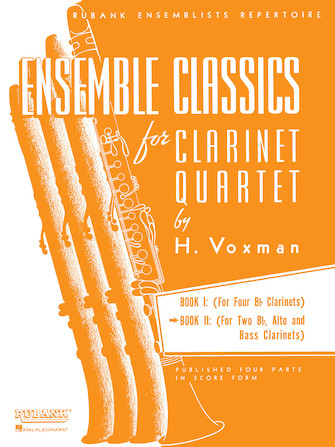 Product Cover for Ensemble Classics for Clarinet Quartet - Book 2