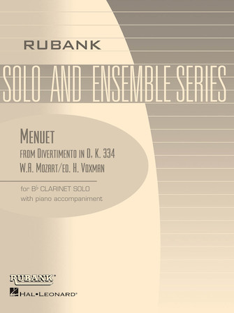 Product Cover for Menuet from Divertimento in D, K. 334