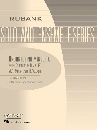 Product Cover for Andante and Menuetto (from Concerto in Bb, K.191)
