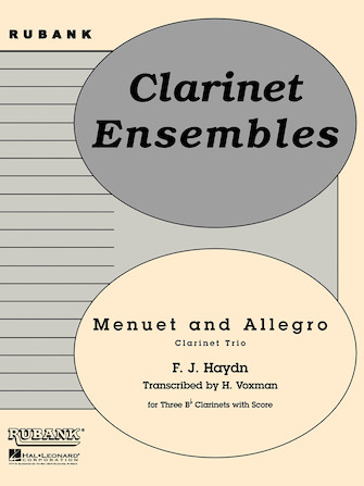 Product Cover for Menuet and Allegro