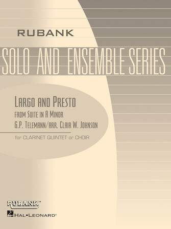 Product Cover for Largo and Presto (from Suite in A Minor)