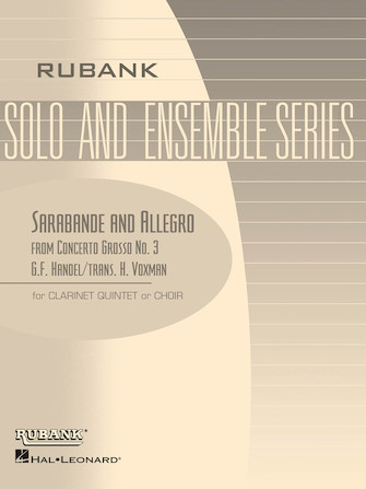 Product Cover for Sarabande and Allegro (from Concerto Grosso No. 3)