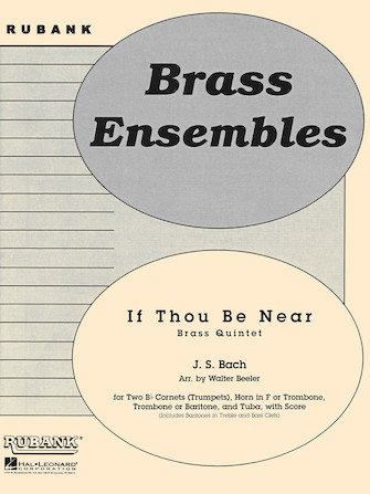 Product Cover for If Thou Be Near (Bist du bei mir)