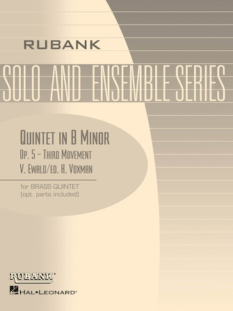 Product Cover for Quintet in B Minor, Op. 5 – Third Movement