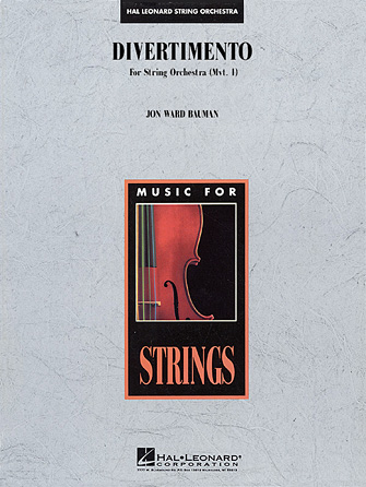 Product Cover for Divertimento for String Orchestra