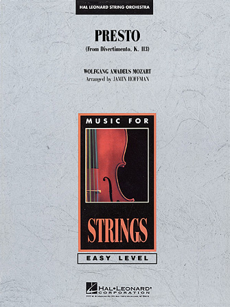 Product Cover for Presto (from Divertimento, K.113)