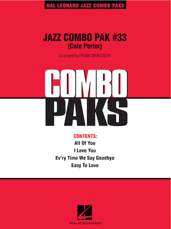 Product Cover for Jazz Combo Pak #33 – Cole Porter