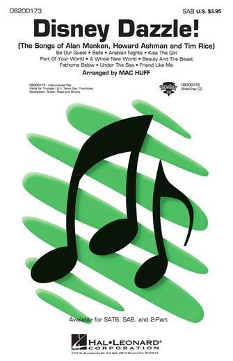 Disney Dazzle! (Medley) : SAB : Mac Huff : Sheet Music : 08200173 : 073999001730