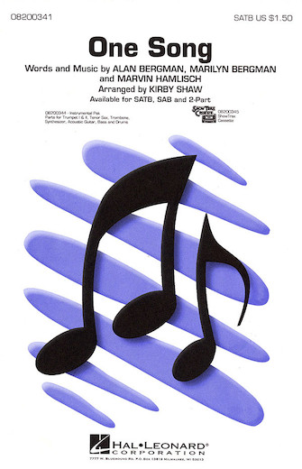 One Song : SAB : Kirby Shaw : Marvin Hamlisch : Sheet Music : 08200342 : 073999014426