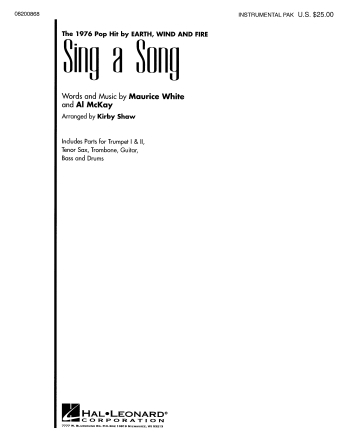 Product Cover for Sing A Song (arr. Kirby Shaw)