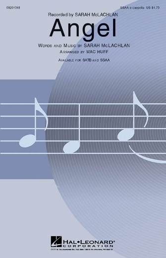 Angel : SSAA : Mac Huff : Sarah McLachlan : Sheet Music : 08201918 : 884088061593