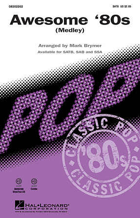 Awesome '80s : SAB : Mark Brymer : Sheet Music : 08202203 : 884088215767