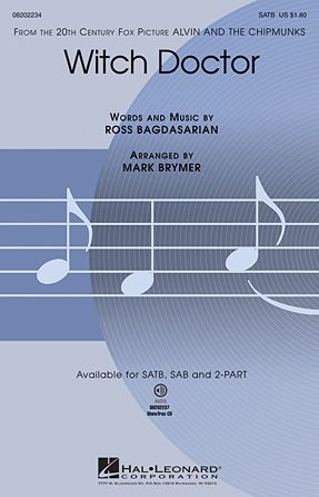 Witch Doctor : SATB : Mark Brymer : Ross Bagdasarian, Sr. :  1 CD : 08202234 : 884088235604
