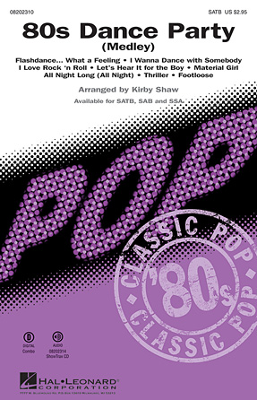 80s Dance Party : SATB : Kirby Shaw : Sheet Music : 08202310 : 884088282585