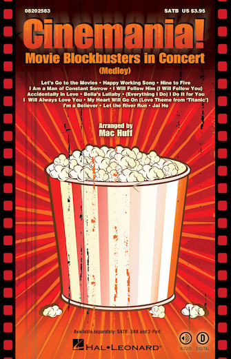 Cinemania! Movie Blockbusters in Concert : 2-Part : Mac Huff : Sheet Music : 08202585 : 884088477028