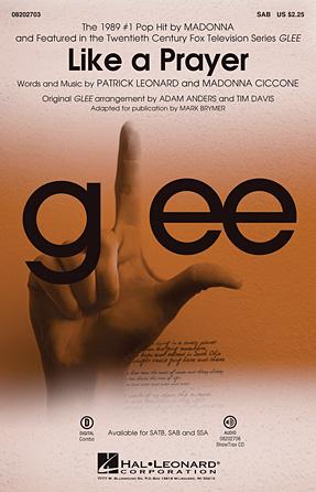 Like A Prayer : SAB : Adam Anders : Madonna : Sheet Music : 08202703 : 884088515386