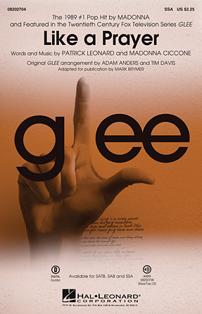 Like A Prayer : SSA : Adam Anders : Madonna : Sheet Music : 08202704 : 884088515393