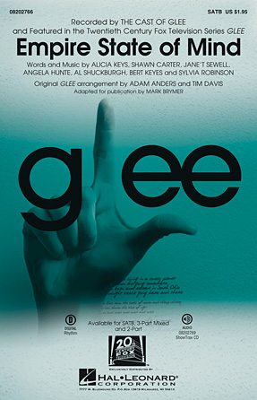 Empire State of Mind : SATB : Mark Brymer : Angela Hunte : Alicia Keys : Sheet Music : 08202766 : 884088543969