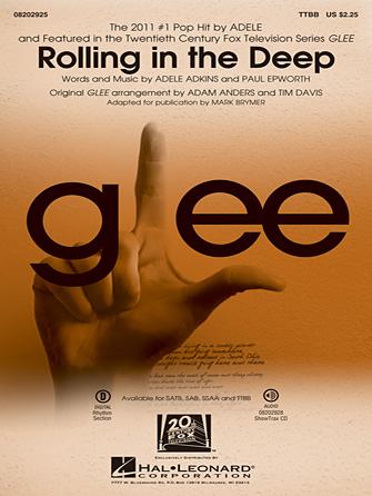 Rolling In The Deep : TTBB : Peer Astrom : Adele : Adele : Sheet Music : 08202925 : 884088593452