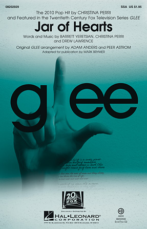 Jar of Hearts : SSA : Peer Astrom : Drew Lawrence : Glee Cast : Sheet Music : 08202929 : 884088593490