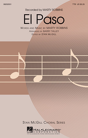 El Paso : TTB : Barry Talley : Marty Robbins : Sheet Music : 08202931 : 884088595272