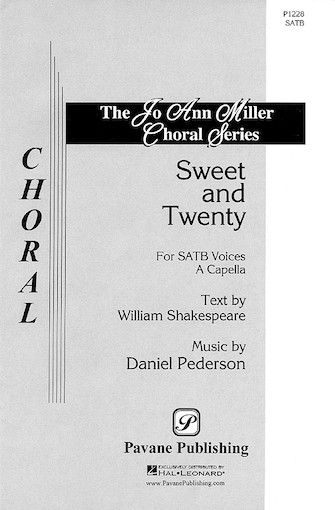 Sweet and Twenty : SATB : Daniel Pederson : Daniel Pederson : Sheet Music : 08301685 : 073999059403