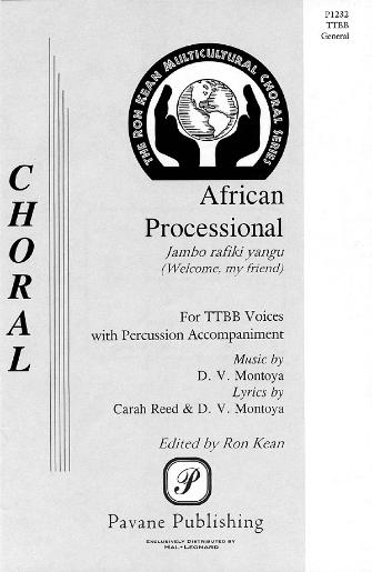 African Processional : TTBB : Phoenix Bach Choir : Phoenix Bach Choir : Sheet Music : 08301688 : 073999984552