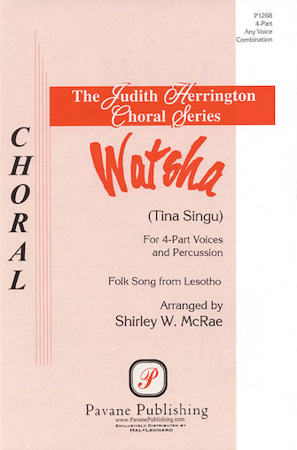 Watsha : SSAB : Shirley McRae : Sheet Music : 08301739 : 073999937053