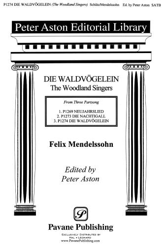 The Woodland Singers : SATB : Peter Aston : Sheet Music : 08301758 : 884088058425