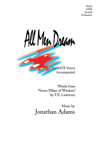 All Men Dream : SATB : Jonathan Adams : Jonathan Adams : Sheet Music : 08301831 : 884088220037